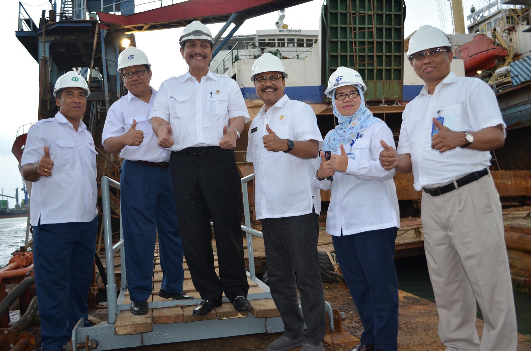 PT Dok dan Perkapalan Surabaya di Kunjungi Kementrian