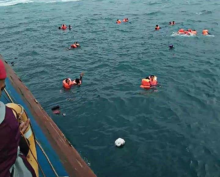 Diperkirakan Sekitar 30 Tewas Dalam Tenggelamnya KM Lestari Maju